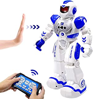 BIBIELF RC Robot Toy, Remote Control Robot Intelligent Programmable Gesture Sensing Robot for Kids 3-12 Year Old Birthday Gift, Blue