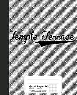 Graph Paper 5x5: TEMPLE TERRACE Notebook (Weezag Graph Paper 5x5 Notebook)