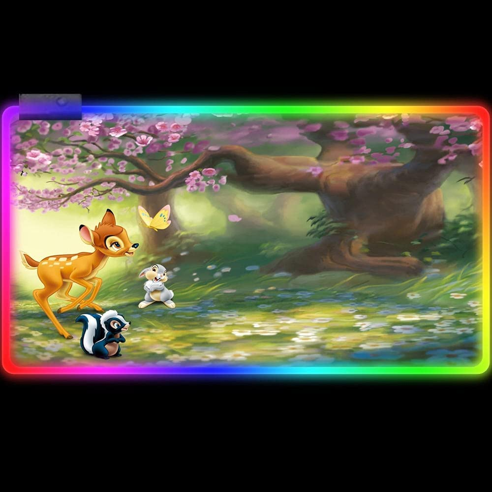 Omaha Mall Store Gaming Mouse Pads Cartoon Animals Flow Pink Mat RGB