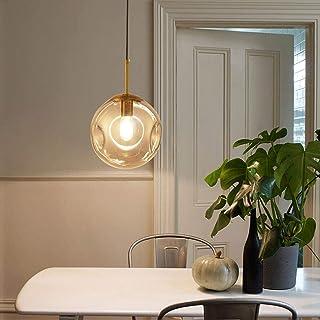 SXXYTCWL Pendentif Moderne Light Lustre de Verre Lumineux Moderne, en métal sphérique en métal et en Verre Suspendu for la...