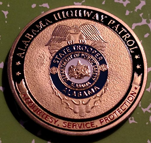 Alabama State Highway Patrol Trooper Police Challenge Art Coin