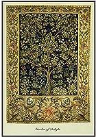 アートキャンバスプリント絵画ポスター、壁のための生命の木ヴィンテージ現代アートワーク垂直画像、油ジクレーキャンバスポスター、家族の装飾のためのプリント絵画フレームなし -50x70CM