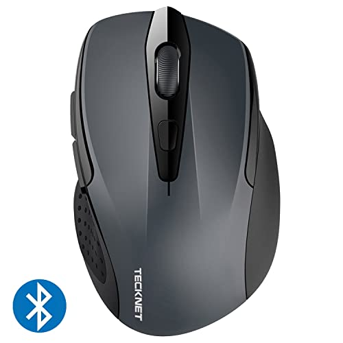 e4a42607473 TeckNet 2600DPI Bluetooth Wireless Mouse, 24 Months Battery Life with  Battery Indicator, 2600/