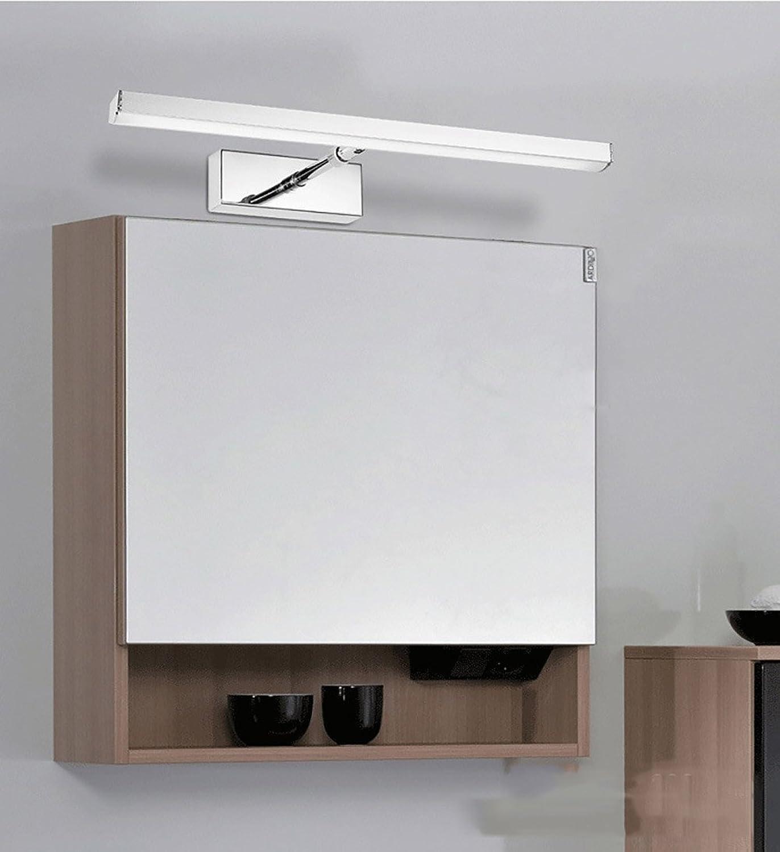 Frontspiegelleuchten Spiegelfrontlicht führte wasserdichte Anti-Fog-Badezimmerbadezimmerspiegel-Wandlampe Europisches einfaches modernes unbedeutendes Knopfkabinettlicht führte helles rechteckiges Wei ( Farbe   Three-Farbe dimming-40CM-8W )