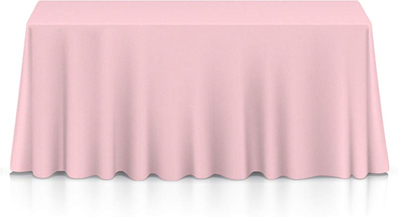 Lann S Linens 90 X 156 Premium Tablecloth For Wedding Banquet Restaurant Rectangular Polyester Fabric Table Cloth Pink