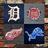 LIBAR Detroit Sports Fan Recycled Vintage Michigan Vintage Retro Metal Wall Decor Art Shop Man Cave Bar Garage 12'x12' Sign