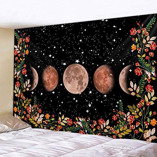 Tela de fondo de adivinación de cartas de Tarot tapiz de brujería Mandala tela de pared Hippie decoración bohemia A5 180x200cm