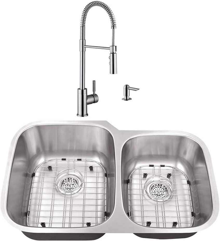 Ranking TOP1 CAHABA CASC0053 32 Ranking TOP17 x 20-3-4 16 Stainless Gauge Steel Double Bowl