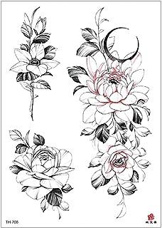 3 stks nieuwe stijl bloem arm waterdichte tattoo stickers hete verkoop gepersonaliseerde half-arm tattoo stickers kraam av...