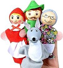 Happy cherry - 4 PCS Marionetas de Dedos de Cartoon Lindo para Niños Bebés Títeres de Mano de Cuento Dibujos Animados para Regalo Juguetes de Muñecos Colorido