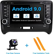 TOOPAI for Audi TT MK2 Android 9.0 Car Radio Car Stereo GPS Navigation 7 Inch Touch Display Car Media Player Double Din Head Unit Support Screen Mirror 4G WiFi OBD2 SWC Car DVD Player