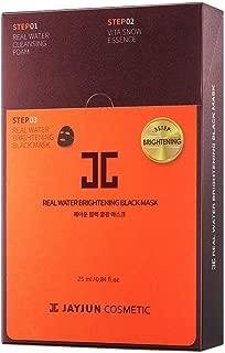 JAYJUN Real Water Brightening Black Mask 25ml / 0.84 fl.oz. Pack of 10
