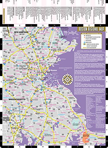 Streetwise Boston Map - Laminated City Center Street Map of Boston, Massachusetts (Michelin Streetwise Maps)
