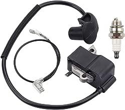 Kizut Ignition Coil for Stihl FS250 FS120 FS120R FS200 FS200R FS250R FS300 FS350 String Trimmer Replaces 4134-400-1301 with Spark Plug