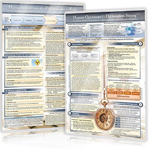 Hypnose Quickfinder I & II Duo-Set komplett (2020): - Die komplette Sitzung & Die wichtigsten Interventionen und Techniken - Schritt-für-Schritt in ... zuverlässig hypnotisieren (DINA4, laminiert)
