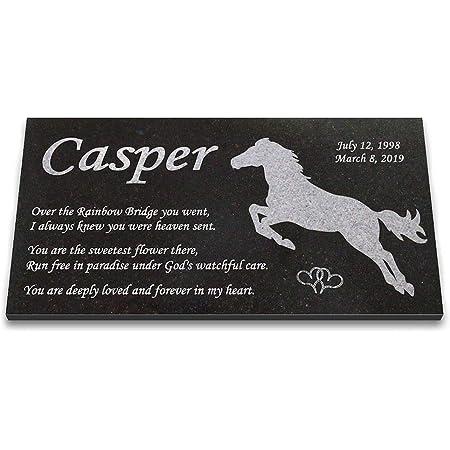 6 x 6 Laser Engraved Granite Pet Memorial Grave Marker Bruno