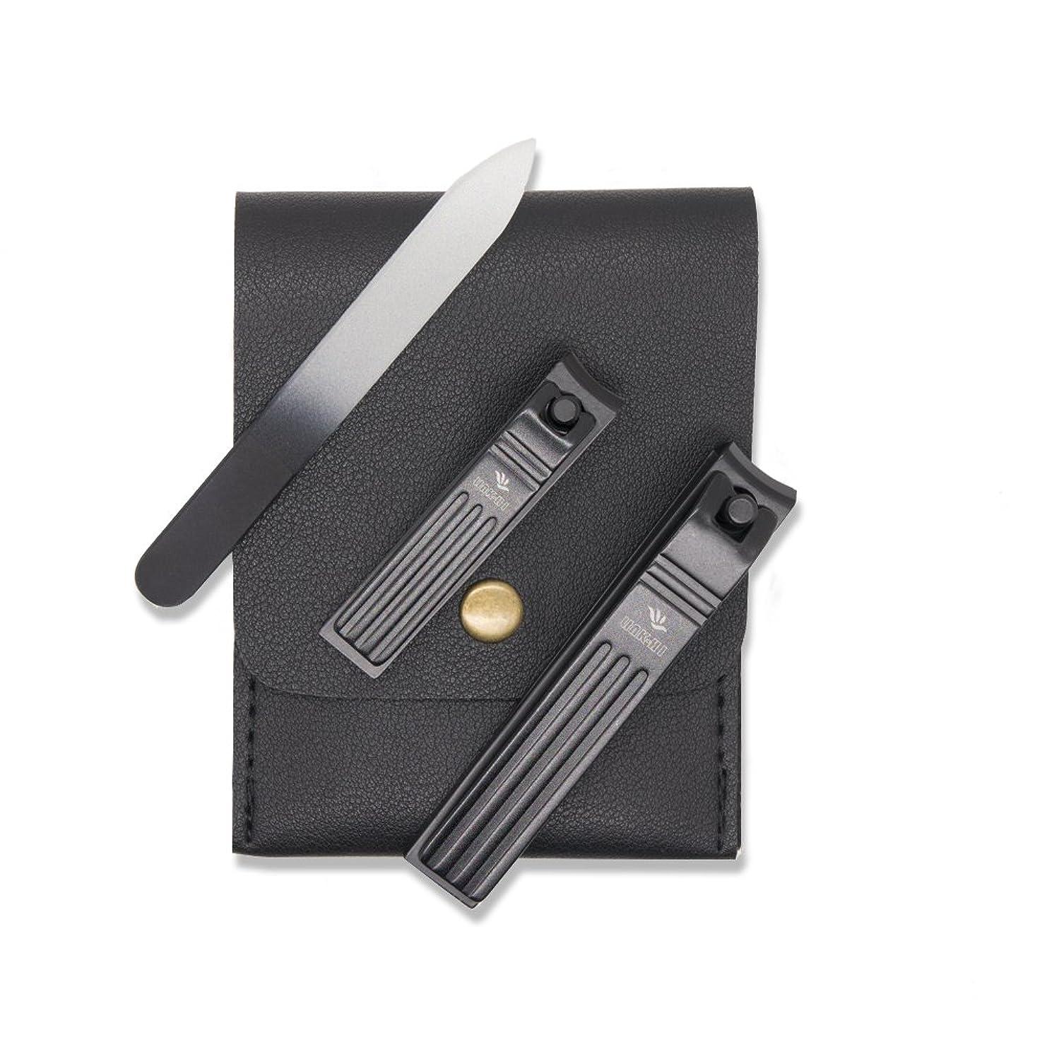警告するうれしい電池LINK - HI爪クリッパーは、黒いステンレス鋼2 mmの広い顎を開けているカーブした刃指爪と爪爪刃 [並行輸入品]