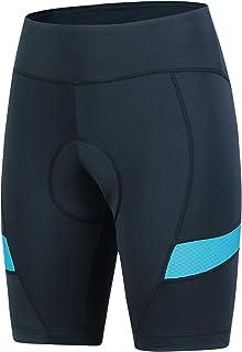 Women Cycling Shorts 4D Gel,Bike Shorts Women with No-Slip Belt& Comfort Cycling Clothes
