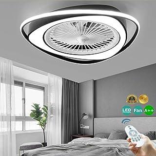 Invisible Ventilador De Techo 38W Luz De Techo LED Silencioso Iluminación Moderna Candelabros Techo Con Luces Mando A Distancia Ventilador Plafones Salón Dormitorio Habitación Para Niños Lámparas