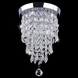 TongLan Crystal Chandelier, 2 Light Flush Mount Ceiling Light, H12.59