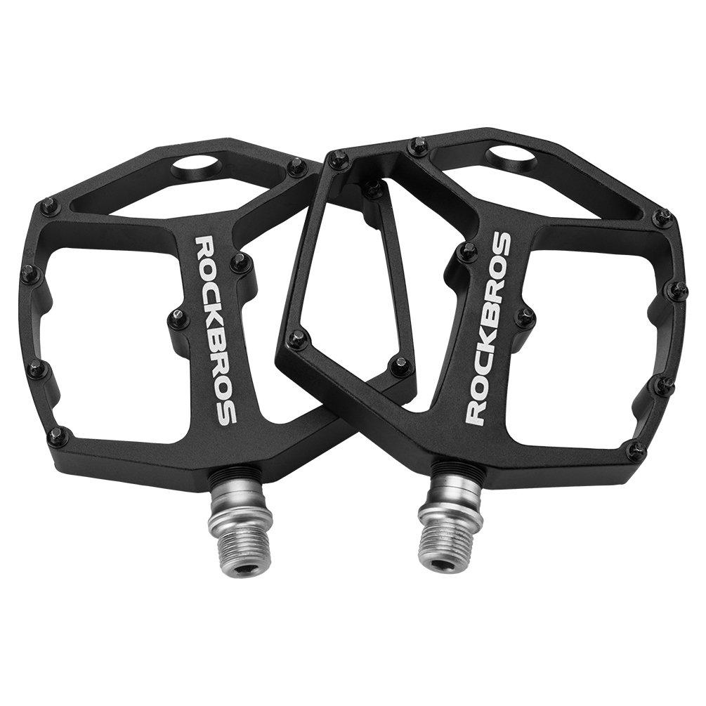 Bicycle Pedals Aluminum Flat Platform Sealed Bearing for MTB Mountain Bike BMX