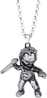 Vintage Metal Doll Pendant Necklace (nl005848)