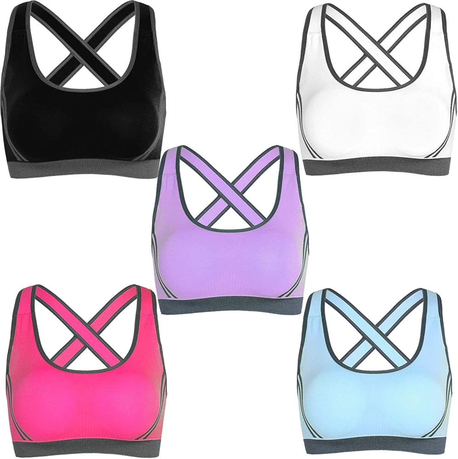 Black White Purple red bluee Ladies Sports Bras, Womens Racerback Yoga Running Shockproof Without Steel Ring Bras, Riding Fitness Without Steel Ring Gathered Camisole