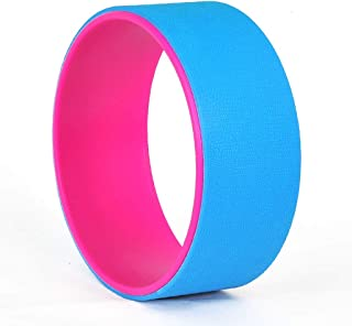 Fitness Circles Dharma Wheel Home Fitness Equipment Yoga Accessories Dharma Wheel Beginner's Pilates Ring Back Bend Aids Load Capacity 150KG (Color : Blue, Size : 12 * 31.5cm)