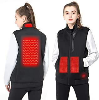 DEKINMAX Women's Heated Vest Lightweight Slim Fit Insulated USB Electric Heating Winter Vest (Power Bank not Included)