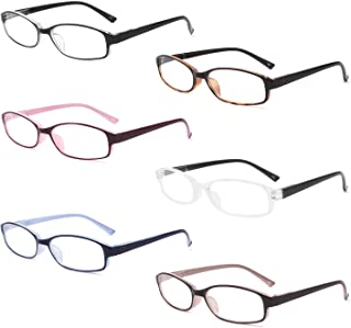 IVNUOYI 6 Pack Blue Light Blocking Reading Glasses with Spring Hinges ,Colors Lightweight Readers for Women,Anti Glare UV ...