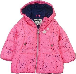 Osh Kosh Baby Girls Hooded Peplum Jacket Coat Pink 24M