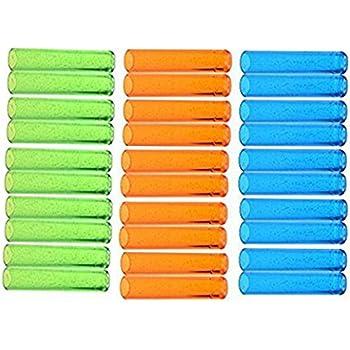 Ogrmar Assorted Colors Plastic Pencil Cap Pencil Shield Pencil Extender Holder 30pcs (Assorted Colors)