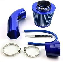 filtro aire coche universal Cromado filtro de aire conico completo azul