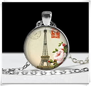 dailymall 50pcs Tib Argent Tour Eiffel Charmes Fabrication De Bijoux Pendentifs