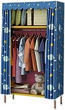 Wardrobe Storage Cabinet Simple Wardrobe Cloth Wardrobe Steel Tube Thickening Reinforcement Cloth Receiving Shelf Save Spa...