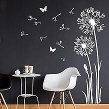 PPuujia Adhesivo decorativo para pared, diseño de mariposas, diente de león de mariposa, vinilo extraíble, extraíble, deco...