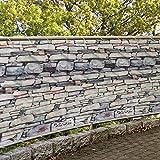 HRUI GartenSichtschutz 100% Privatsphäre Sichtschutz Balkon PVC Atmungsaktiv für den Gartenzaun...