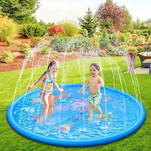 Neusky Trädgård vattenmatta vattenspridare vattenleksak för barn baby och hund på sommaren (delfin-N)