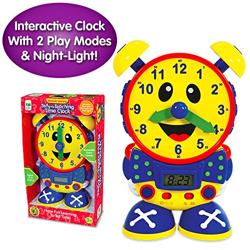 The Learning Journey Telly The Teaching Time Clock - Electronic Analog & Digital Time Telling Aid with Two Quiz Modes & Night Light - Telling Time Teaching Clock - Award Winning Toys