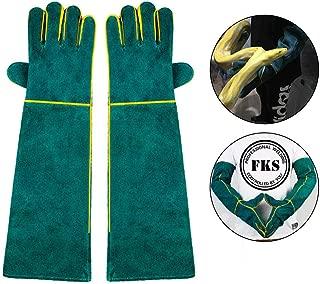 AUOKER Animal Handling Gloves Bite Proof, 23 Inch Durable Bite Resistant Gloves for Bathing, Grooming, Handling Dog/ Cat/ Bird/Snake/ Parrot/Lizard/ Reptile - Scratch/Bite Resistant Protection Gloves