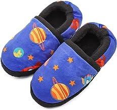Boys Home Slippers Kids Warm Bedroom Slippers Fur Lined Winter Indoor Shoes (Toddler/Little Kid/Big Kid)