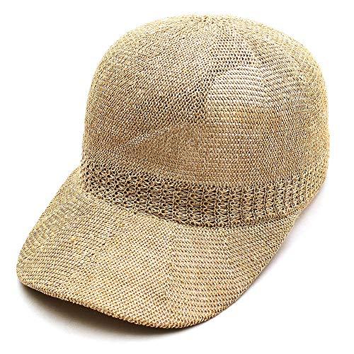 サーモキャップ メッシュキャップ BASIQUENTI ベーシックエンティ 帽子 麻 リネン 麦わら キャップ 無地 (09-bcay01490) (ベージュ)