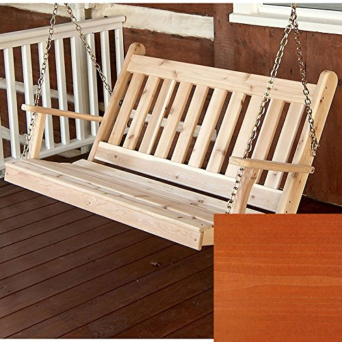 A&L Furniture Co. Traditional English Red Cedar Porch Swing ......