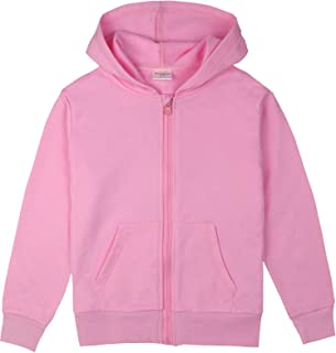 Spring&Gege Youth Solid Classic Hoodies Soft Hooded Sweatshirts Children (2-12 Years)
