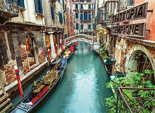 WDZSHLGG Adultos Canal Venecia Puzzle 1000 piezas