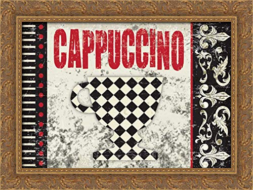 Hogan, Melody 24x17 Gold Ornate Framed Canvas Art Print Titled: Cappuccino Fantastico 3