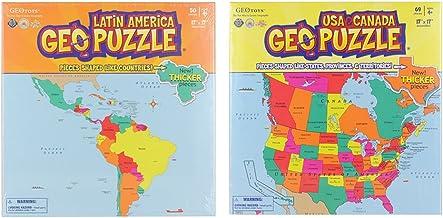 Educational Geography Jigsaw Puzzle U.S.A - Canada & Latin America Bundle (2 Items)