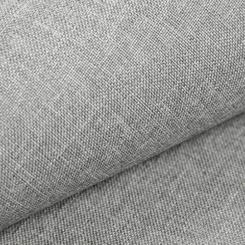 HEKO PANELS Tissus dameublement au Metre - Rembourré pour chaise, canapé, fauteuil, etc. – Gris argent