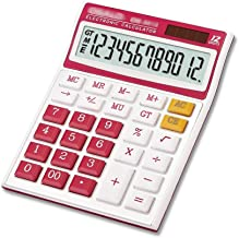 $25 » Handheld Calculator Electronic Desktop Calculator with 12 Digit Large Display, Solar Battery LCD Display Office Calculator...