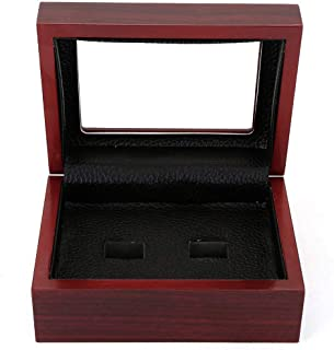 BIGWISH Championship Big Heavy Ring Wooden Display Ring Box(Without Rings)(2 Holes)